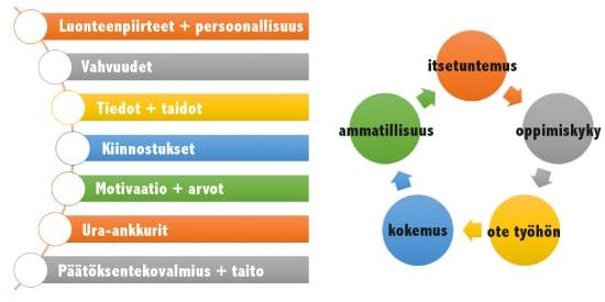 oman osaamisen hahmottaminen ja nakokulmia osaamisen kaaviot
