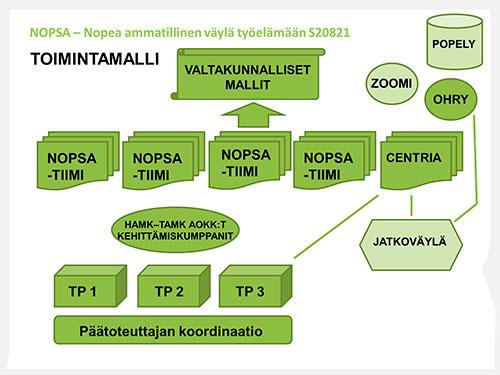 NOPSA-hankkeen toimintamalli