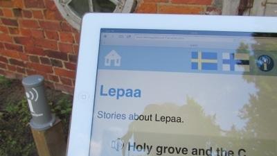 Laterna Voxi-tekniikkaa käytetään Lepaan puiston mobiiliopasteissa