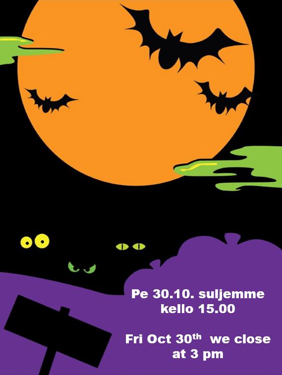 Halloween-teemainen piirretty kuva