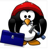 piirroskuva pingviinista tyokalujen kanssa