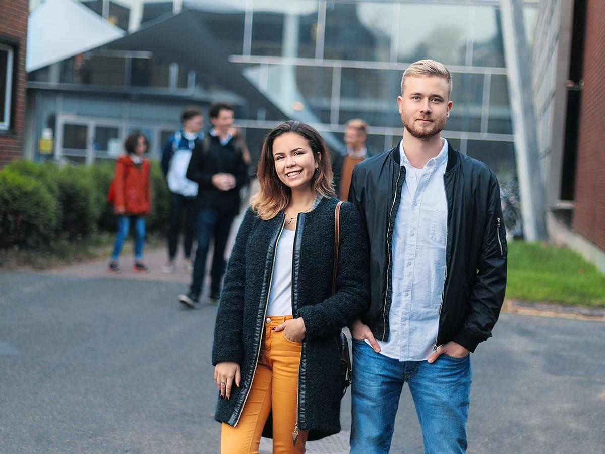 opiskelijoita Riihimäen kampuksella