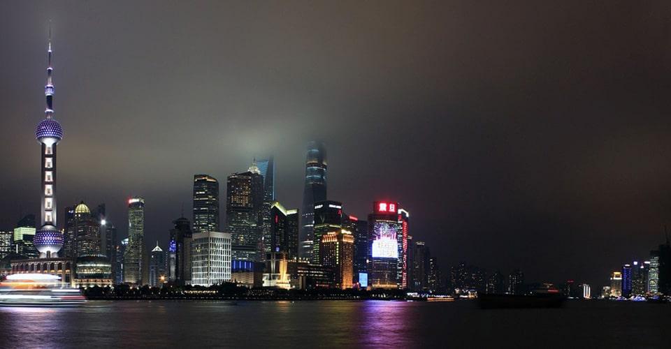 city skyline in China