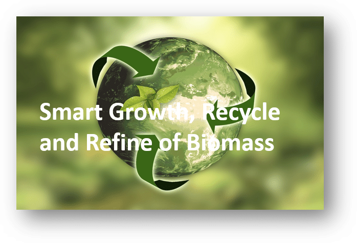 smart growth, recycle and refine of biomass