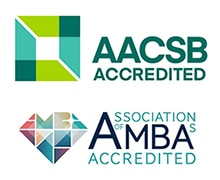 AACSB and AMBA accredited logos