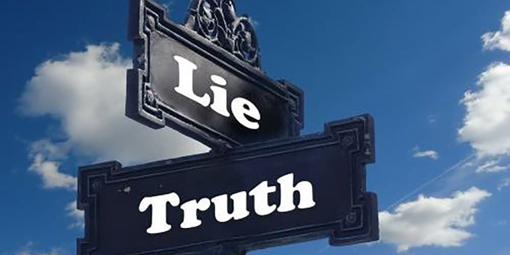 sign lie and truth