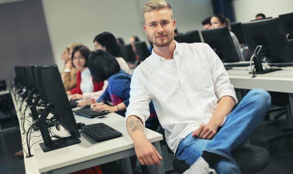 opiskelija luokassa