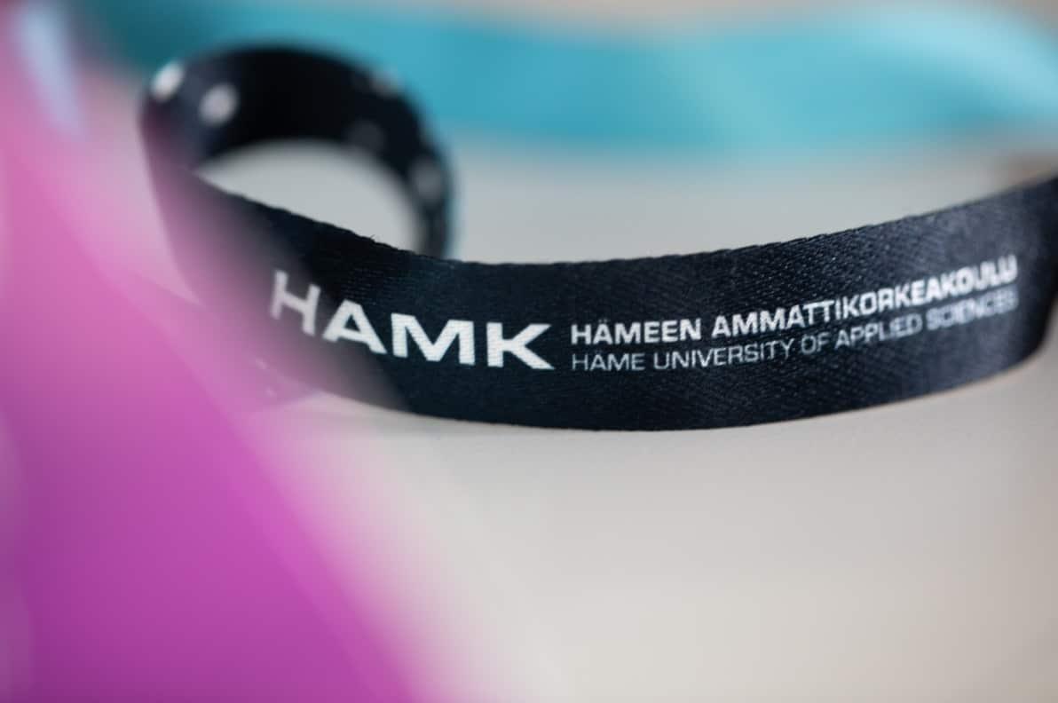 Ribbon with HAMK text