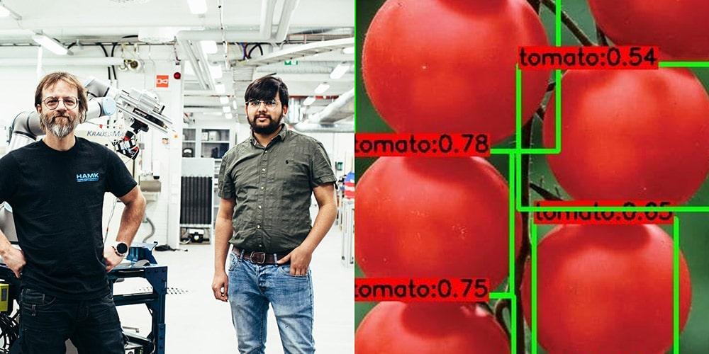 Francois Christophe ja Fabian Gerock sekä tomaatteja